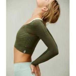 Free People ECONYL Long-Sleeve Layer Shirt Green S